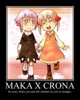 Maka X Crona Motivational Poster by Alicehime21