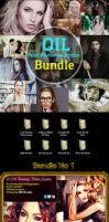Oil Paint Photoshop Action Bundle by hazratali2020