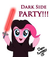 MLP: Darth Pinkie Pie - Dark Side Party by DarthFluttershy