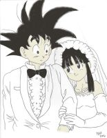 Goku's Wedding by Kosukeham