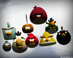 Some Angry Birds by MarineACU