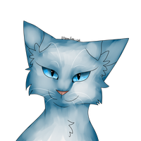 Snowfur Headshot by Stormfire--cat