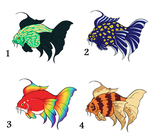 Adoptable Fish - Set 2 OPEN by Pie-Adoptables