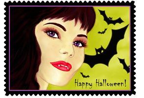 Halloween Stamp by Dianabolique