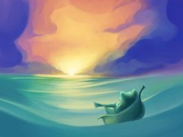 Sun, Sea, and a Frog by taylorsmith