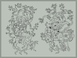 Lifetree_linearts by -lildragon-