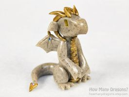 Seated Stone Dragon by HowManyDragons