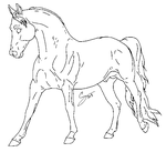 Horse Lineart FREE TO USE by Squiggy-Adoptables