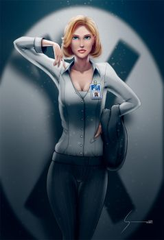 Dana Scully, X-Files by EverHobbes