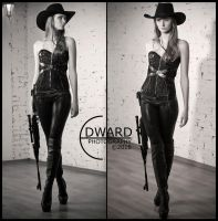 Cowgirl with rifle by Edward-Photography