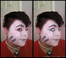 Makeup Test: Squee Valentine by ghosty-Cat