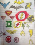 Dc comic heroes by abdiel13