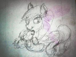 Midnight and child-wip by Squigglz