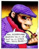 Philosopher Ape 2 by Frohickey