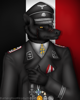 Prussian Wolf Officer by talonian