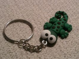 Keychain with geco fimo by bimbalove81