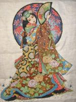 Woman of Wisdom Cross Stitch by harryfan99