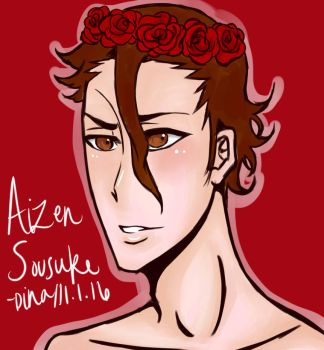 Flower Crown Aizen by MoonLightSadness10