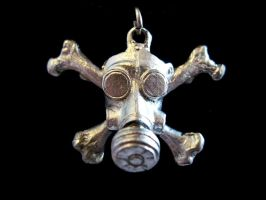 Gasmask Death's Head Pendant by DellamorteCo