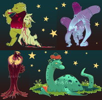 Colourful Cryptids set 2 - Link to buy in desc. by BabaKinkin