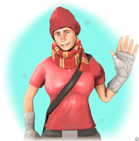 Winter Femscout Artstyle Test | TF2 Poster by iSlimed