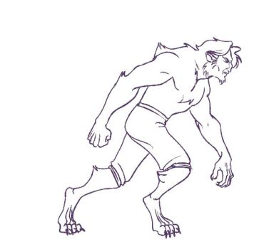 Rough Werewolf Walk Cycle by Porrie