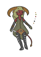 Human Adoptable: Dusty Demon (female) CLOSED by Adoptierchen
