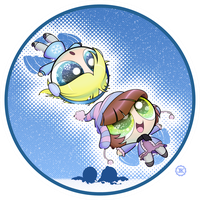 Prize: Bugbe and Blu Snow Angels by JKSketchy