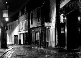 Wet night in Back St..opposite by TonyPringle