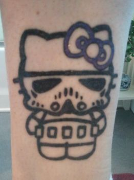 Tattoo Number 4: Hello Kitty Stormtrooper by KorpseCosplay