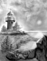 Lighthouse at BayBulls by cocobolo