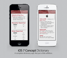 iOS 7 Concept: Dictionary by theIntensePlayer