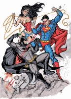 DC Trinity Smackdown... by CrimsonArtz