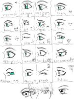 Practicing Eyes Expressions by Sky-Alaska