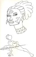Ngunbere/Guinevere Sketches by BrandonSPilcher