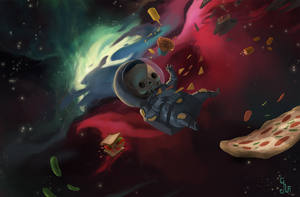 Space Fast Food by guillegarcia