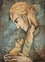 Anders with kitten by AlyonaDF