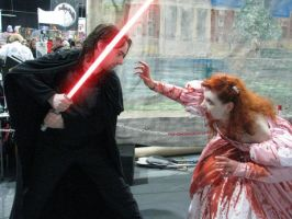 Zombie Ariel vs Sith Lord by RubberDucky001
