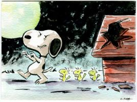 Snoopy Zombie! by littlereddog