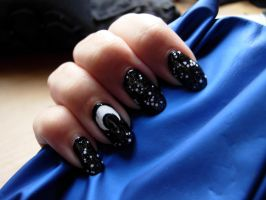 Moon nails by SarahJacky