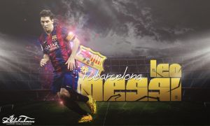 wallpaper leo messi 2014 by Designer-Abdalrahman