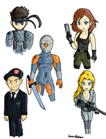 Metal Gear Solid Doodles by ScruffMuhGruff