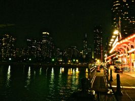 Chicago Skyline Nightscape: 03 by TropicalxLondon