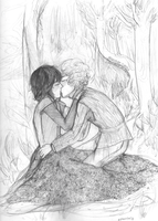 First Kiss (Bran x Jojen/Brojen) by zjeanelle