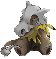 Noir the Cubone by ColorofAshes