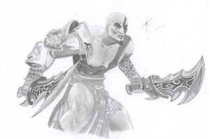 Quick Kratos Sketch (GOW3) by Demonconstruct