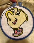 Chip Cross stitch from Beauty And The Beast by AnimeFanBecky