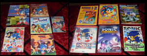 Sonic Collection .:Books and Guides:. by VeggieMadness