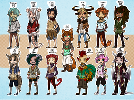 Chinese Zodiac Adoptables! - [SOLD] by PhoxTanks