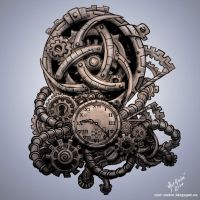 Steampunk Tattoo - By - Mat Andre by MatAndre